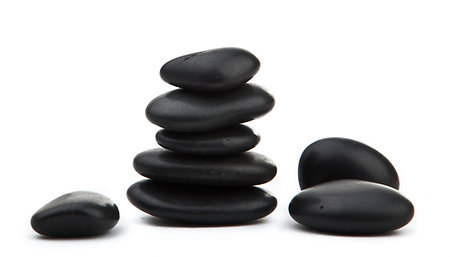 Hot Stone Reflexology. Hot Stone Pile